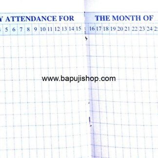 Dailly attendance register