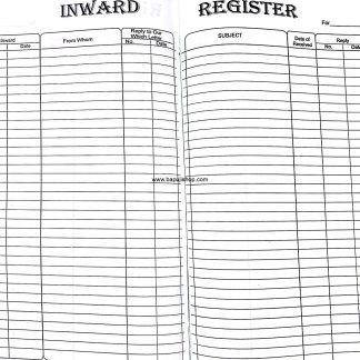 Inward Register under the Factory Act