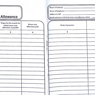 Register Form A for House Rent allowance Rule 4