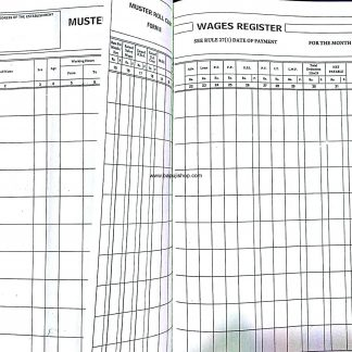 Salary Register Muster wages account book