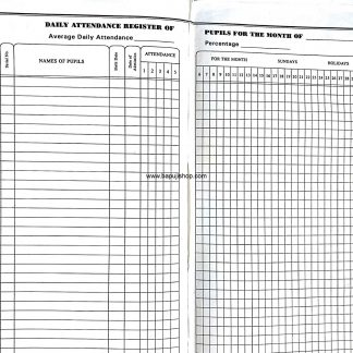 Daily Attendance Register for Pupils