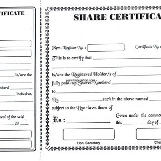 Share Certificate Society