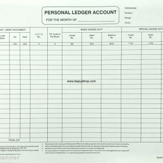 Personal Ledger account