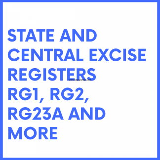Central Excise Rules Register books like RG register, Stocks register etc