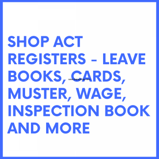 The Shops and Establishments Act register like salary register, muster book etc