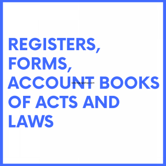 Registers, Forms, Account Register Books Of Acts and Laws