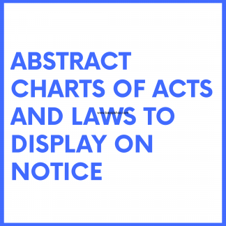 Abstract Charts of Labour laws and acts like building construction etc