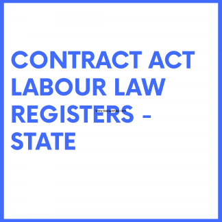Contract Labour Regulation and Abolition Act CLRA Law Registers - Maharashtra like Register of wages etc