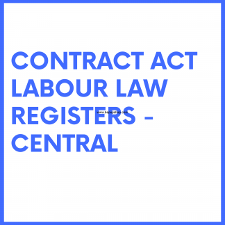 Contract Labour Regulation and Abolition Act Law Registers - Central(India level) like register of overtime etc