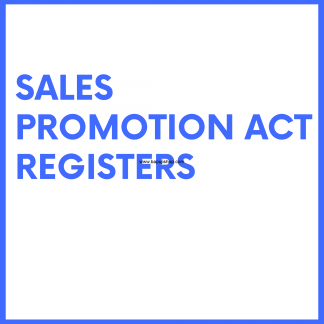Sales Promotion Act Registers like A B C D registers
