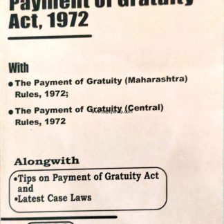 Payment of Gratuity act book bare